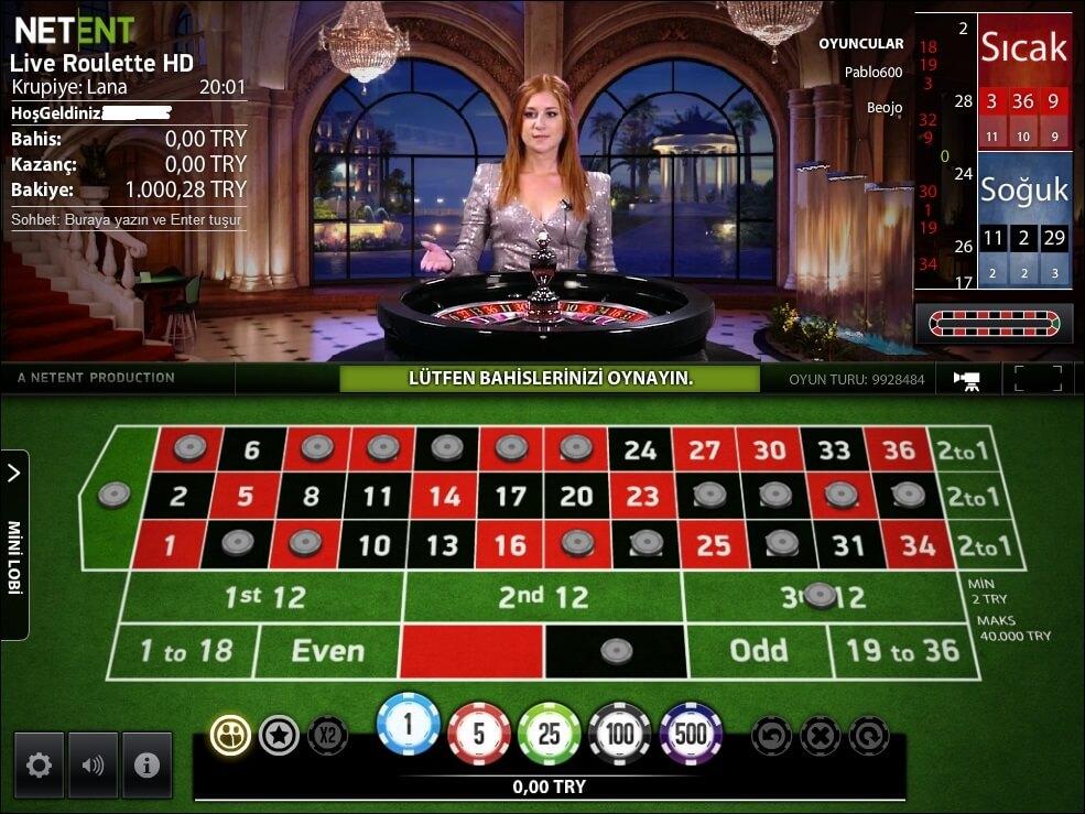 Netent Canlı Casinolar