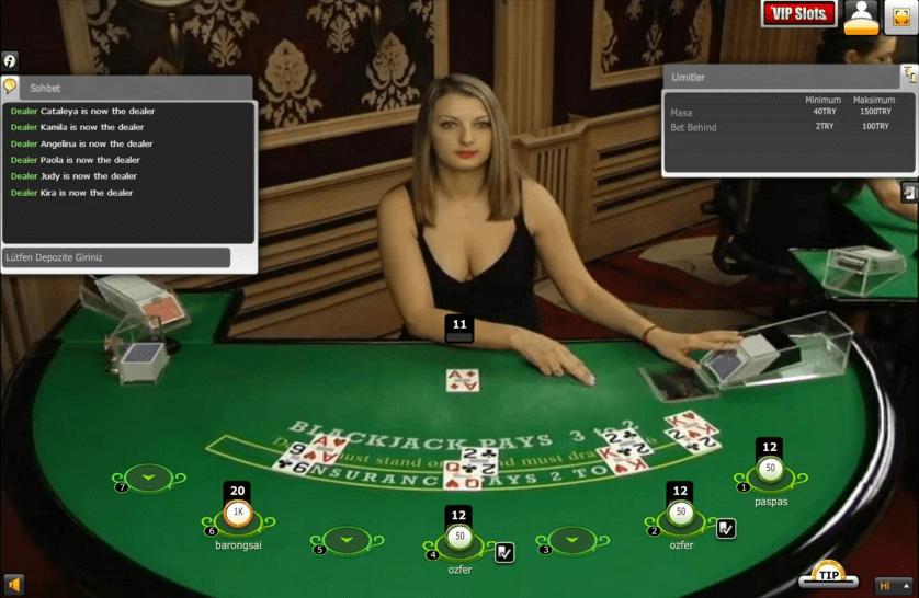 XproGaming Canlı Blackjack
