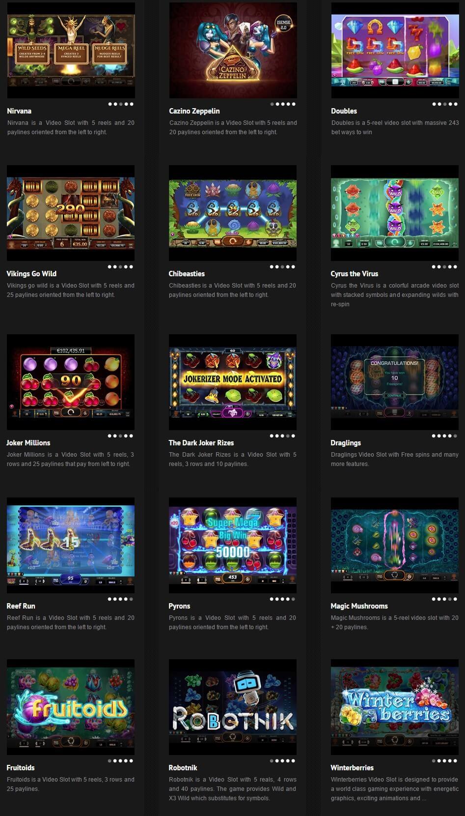 YGG Drasil Casino Oyunları