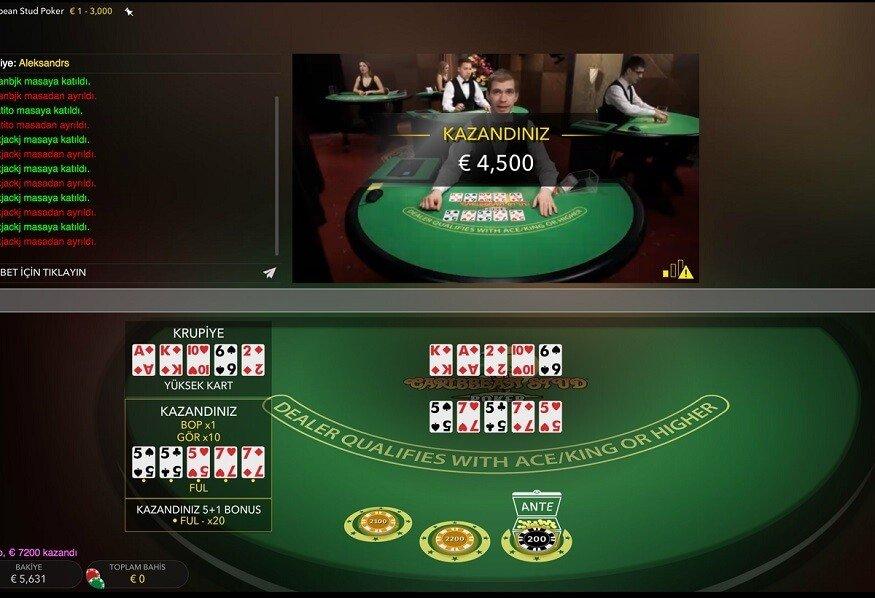 caribbean poker big win